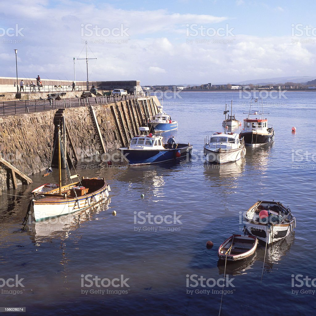 Harbour at Minehead. Somerset. England stock photo