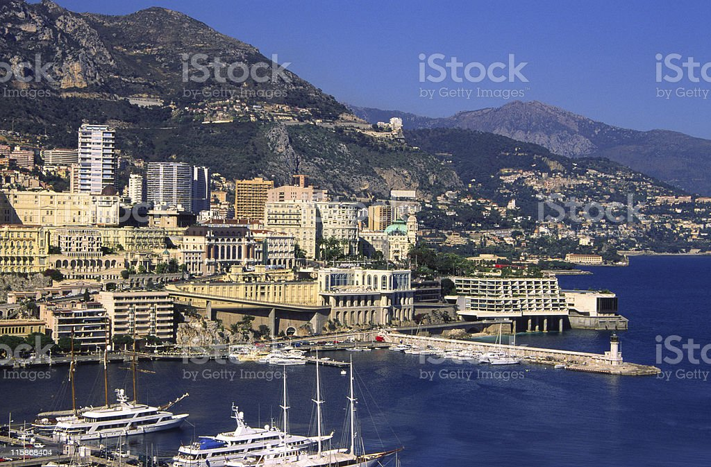 Harbour at Monaco royalty-free stock photo