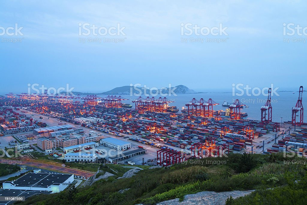 harbour at night royalty-free stock photo