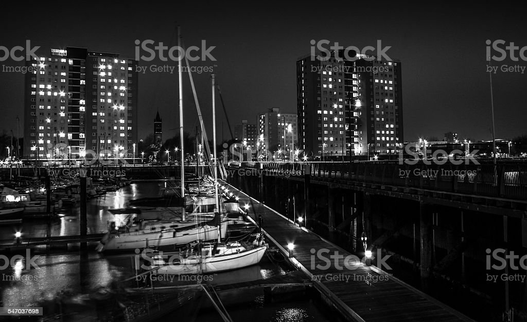Harbour At Night stock photo
