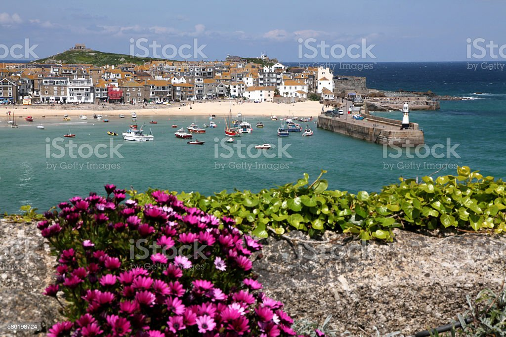Harbour at St. Ives stock photo