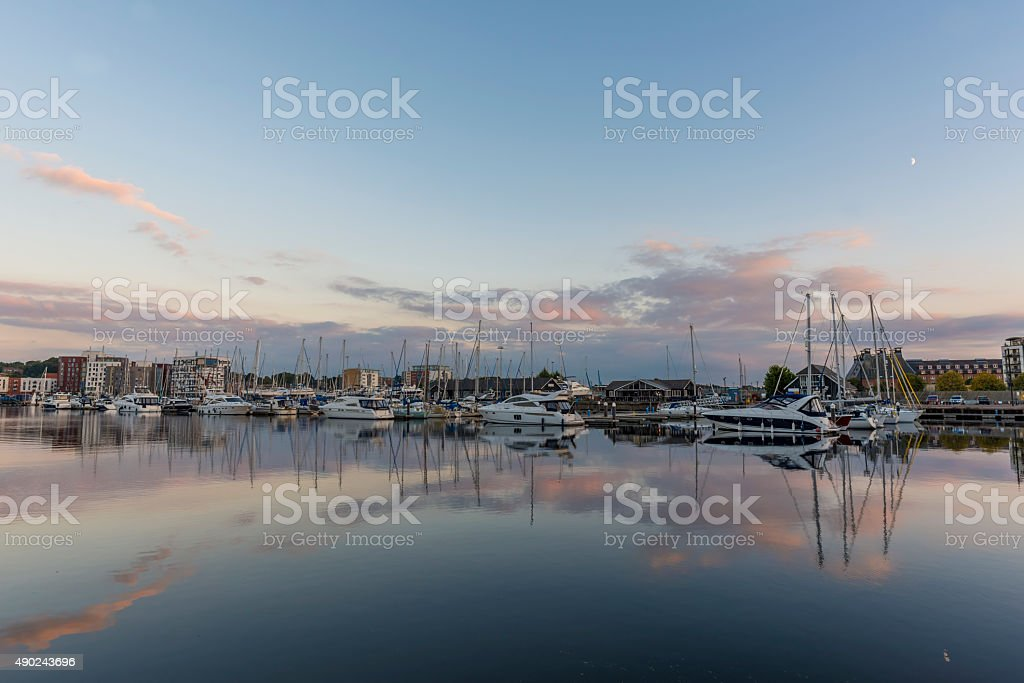 Harbour at Twilight stock photo