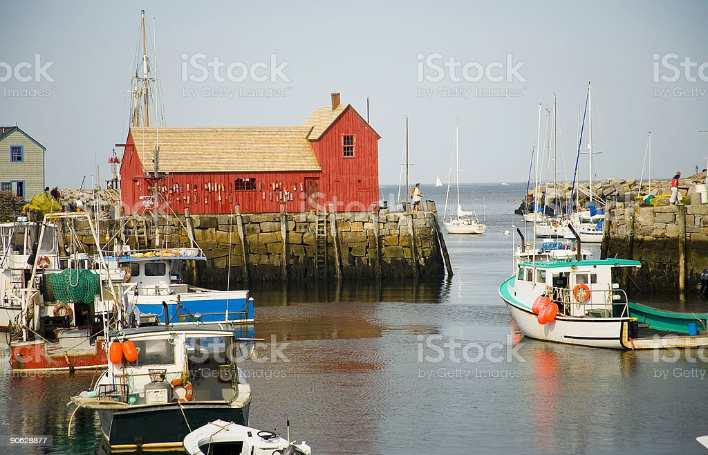 Harbour Boat House stock photo