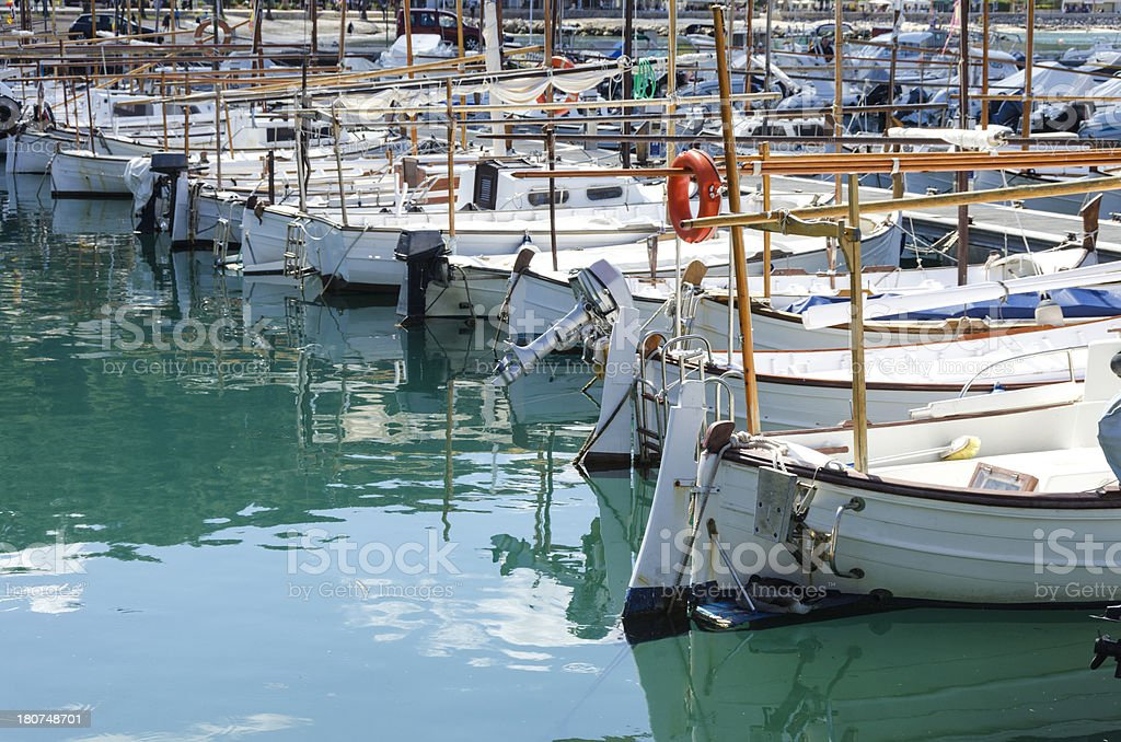 Harbour Boats stock photo