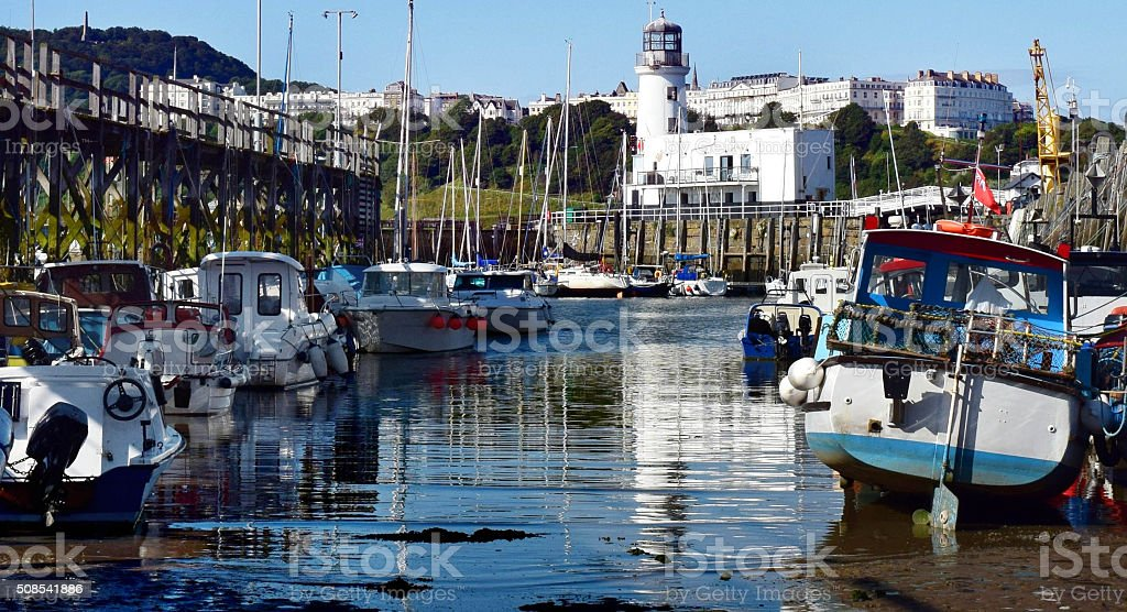 Harbour Boats, Scarborough stock photo