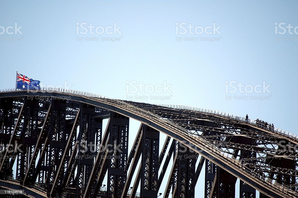 Harbour Bridge climb stock photo