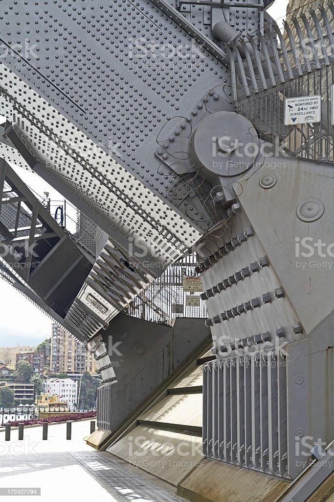 Harbour bridge detail stock photo