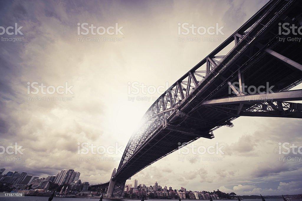 Harbour Bridge in Sydney royalty-free stock photo