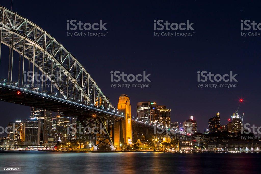 Harbour Bridge, Sydney Skyline stock photo