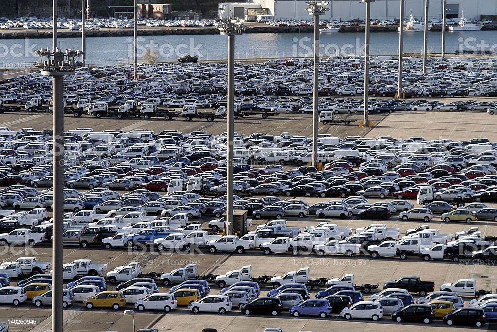Harbour Car Park - Sydney stock photo