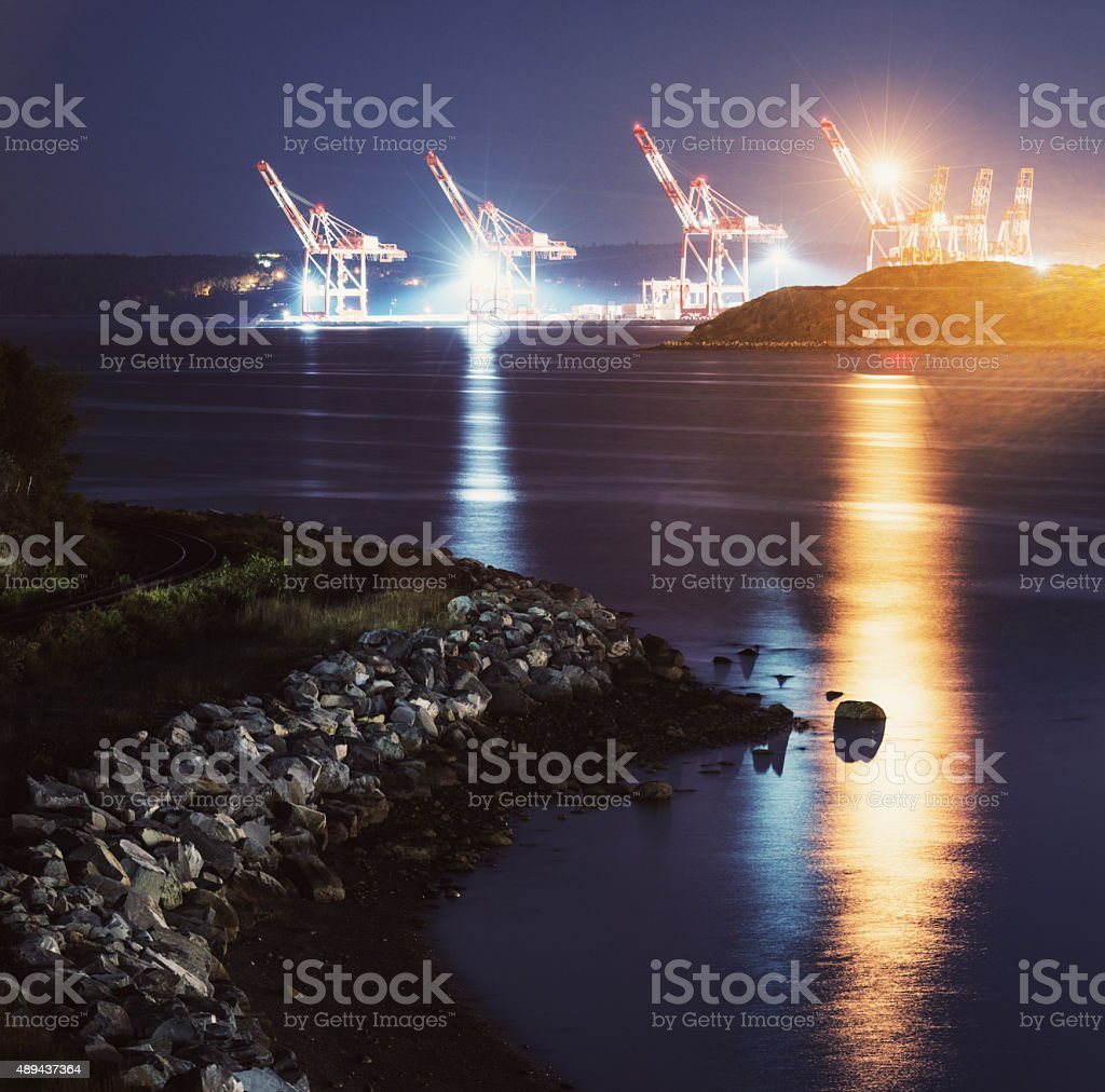 Harbour Container Port stock photo