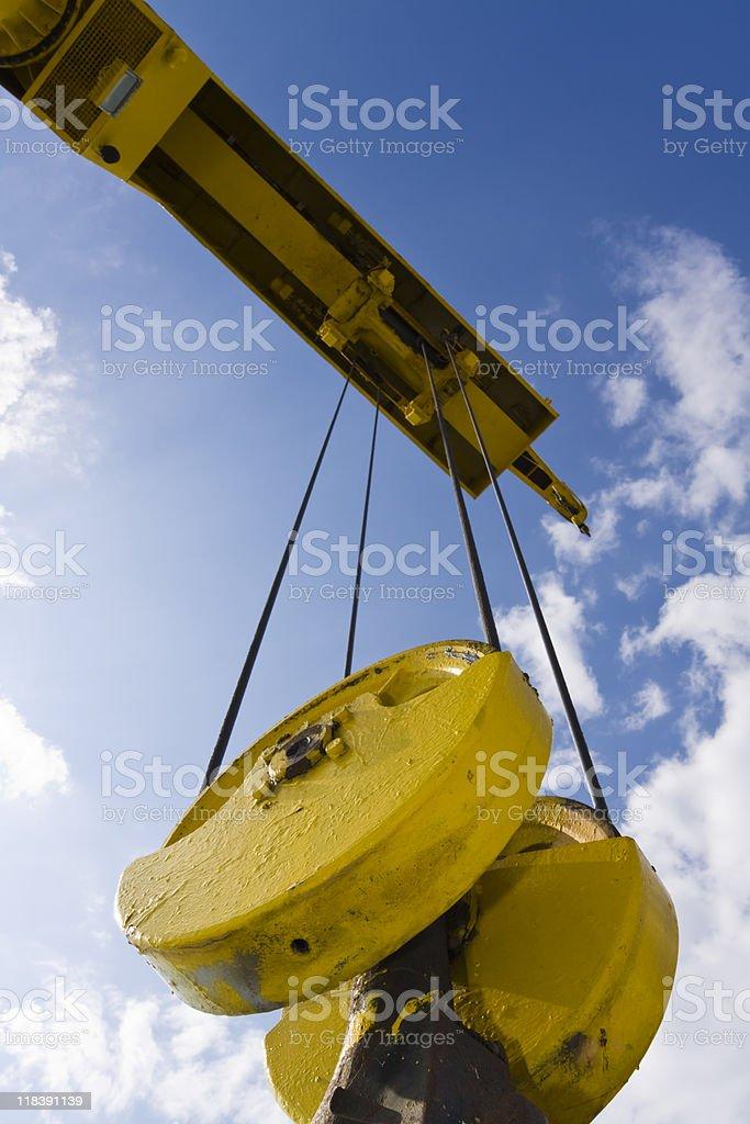 harbour crane royalty-free stock photo