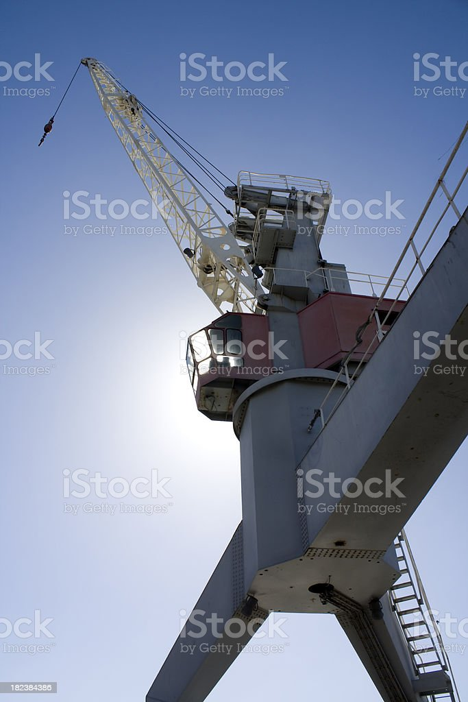 harbour crane royalty-free stock photo