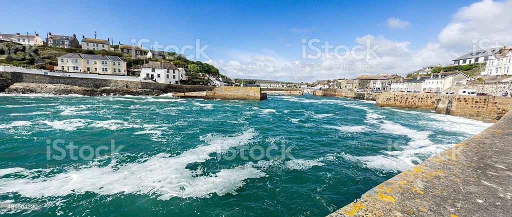 Harbour enterance , Porthleven , Cornwall stock photo