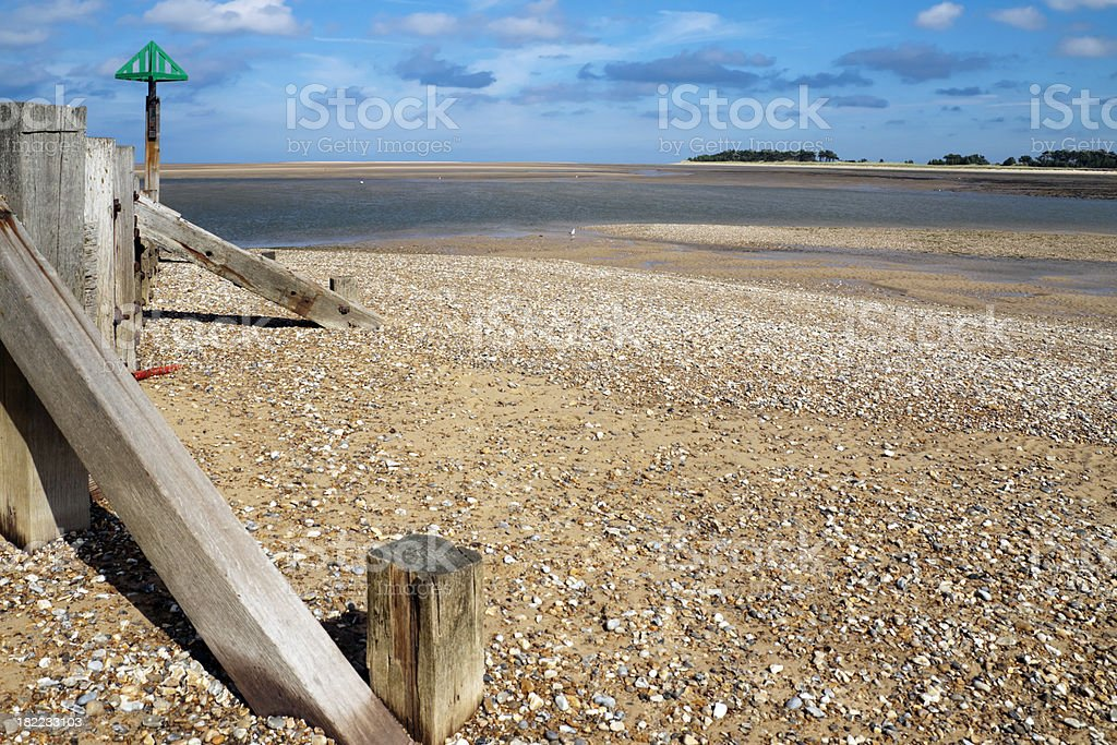 Harbour entrance at Wells next the Sea royalty-free stock photo