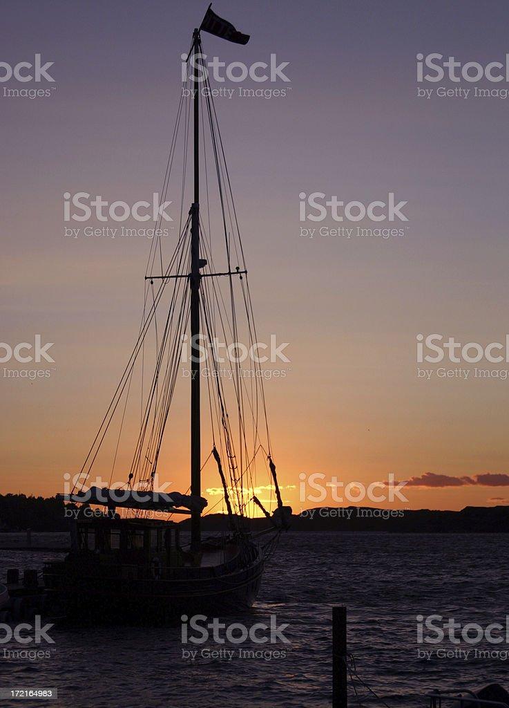 Harbour evening stock photo
