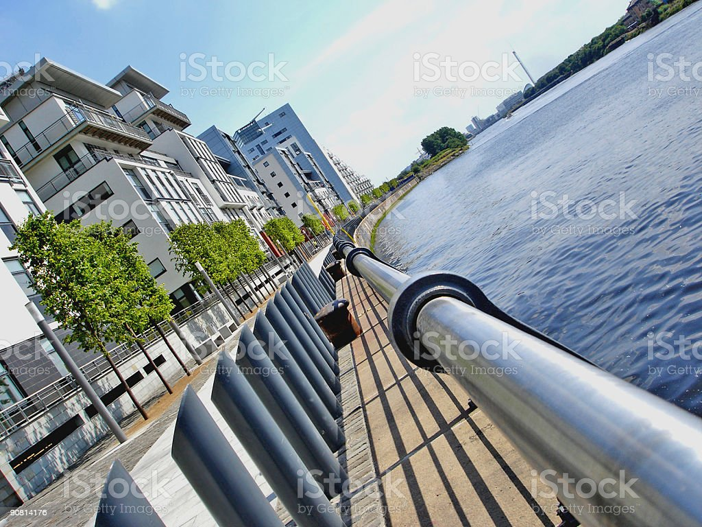 Harbour Flats, Glasgow, Scotland royalty-free stock photo