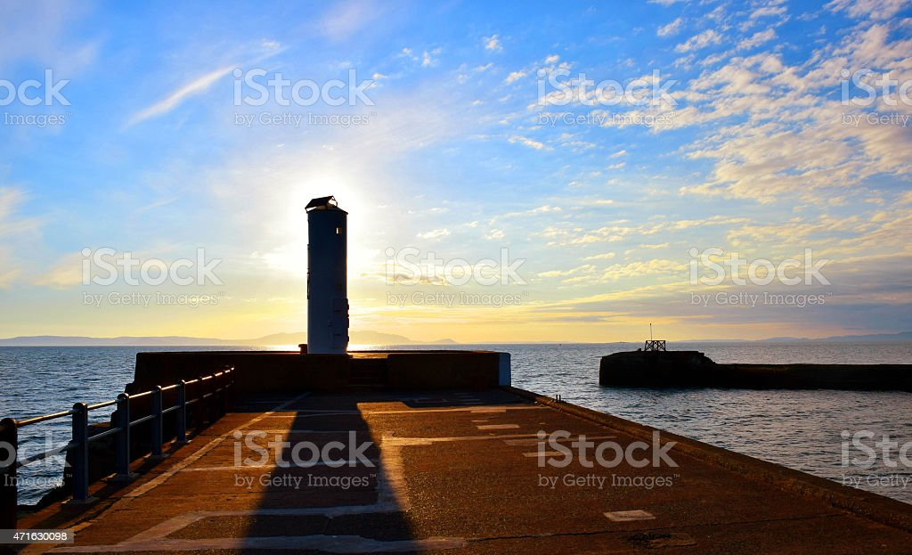 Harbour front, Ayre stock photo