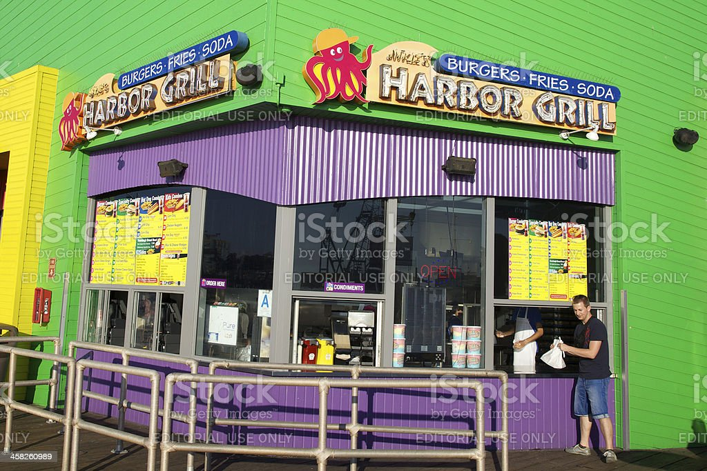 Harbour Grill on Santa Monica Pier royalty-free stock photo