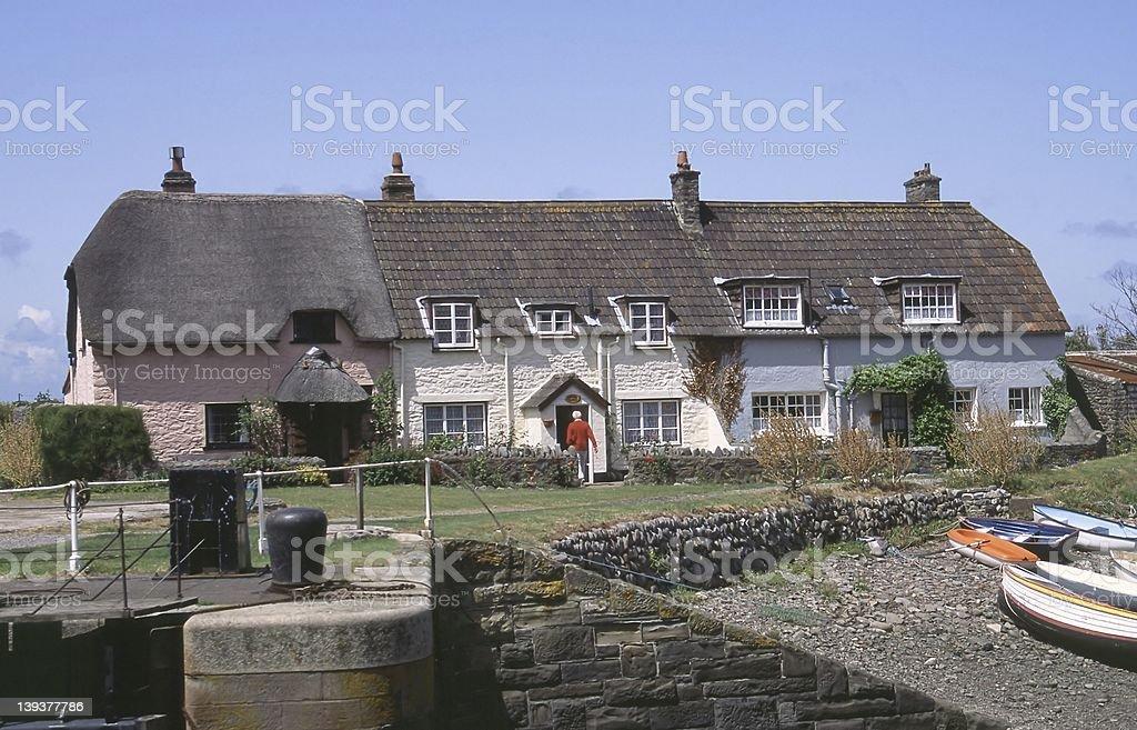 Harbour houses stock photo