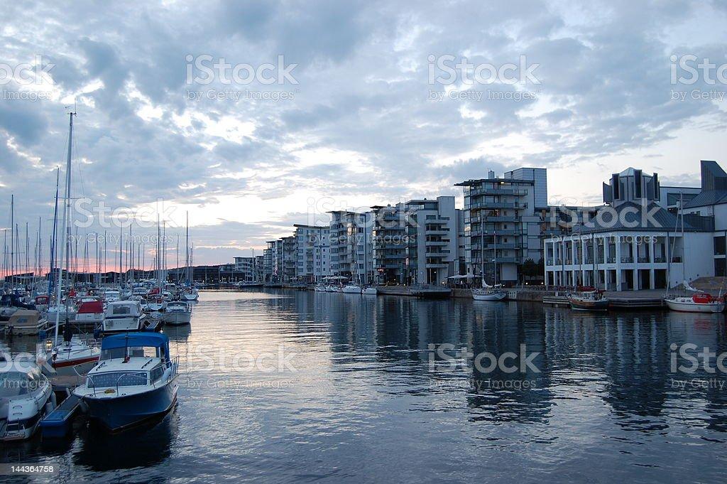 Harbour in Helsingborg stock photo