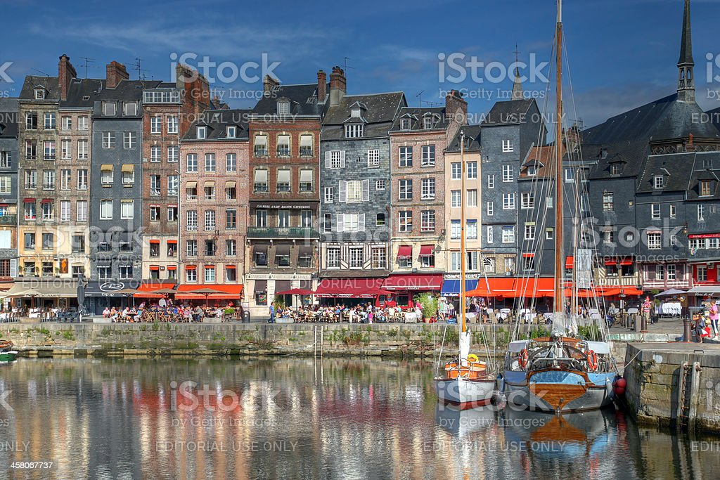 Harbour in Honfleur, France royalty-free stock photo