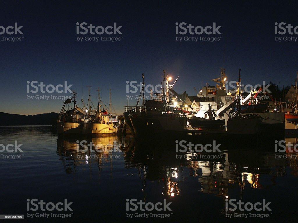 Harbour in lödingen royalty-free stock photo
