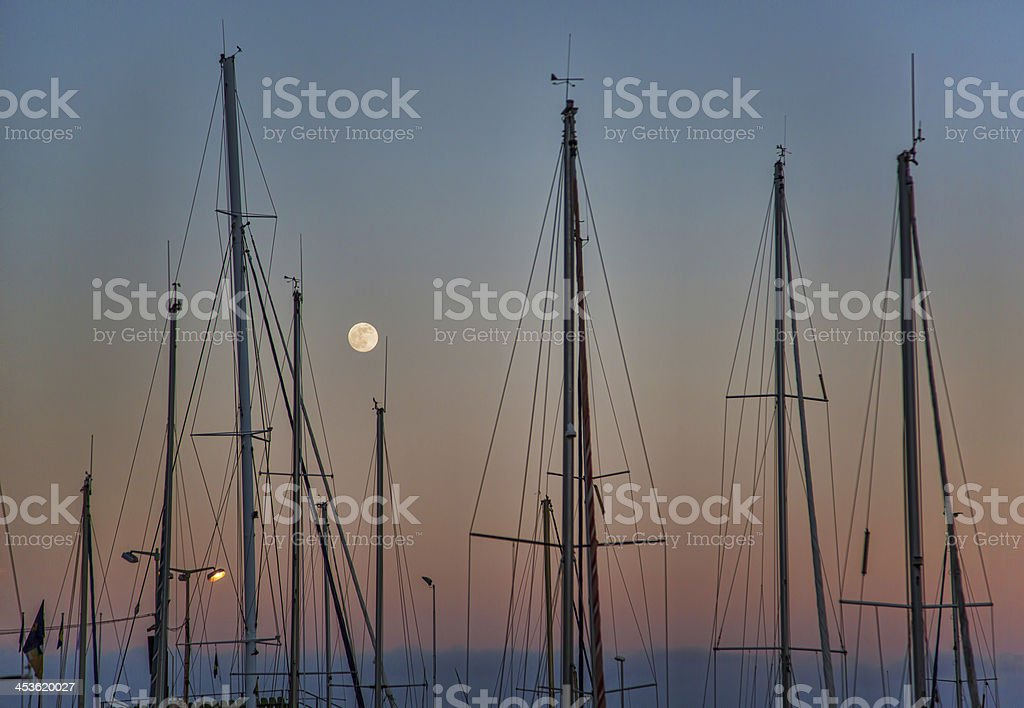 Harbour in Twilight royalty-free stock photo