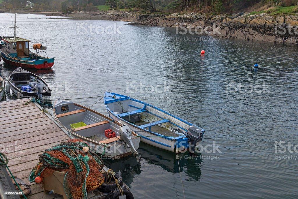 Harbour Jetty at Ahakista Cork stock photo