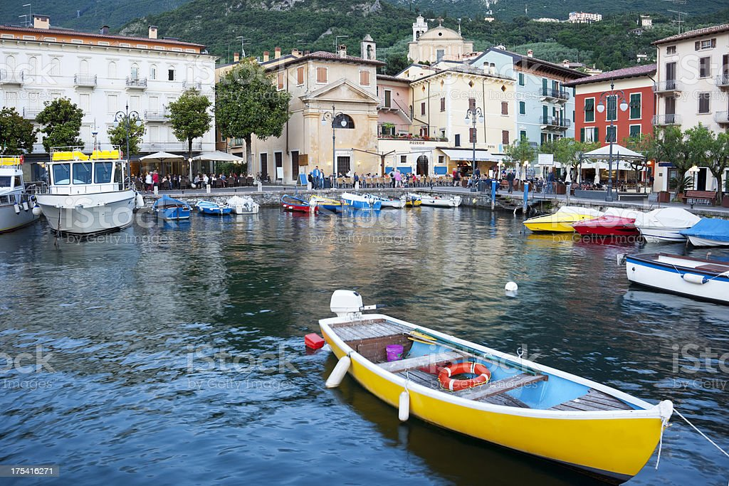 Harbour Malcesine, Italy stock photo