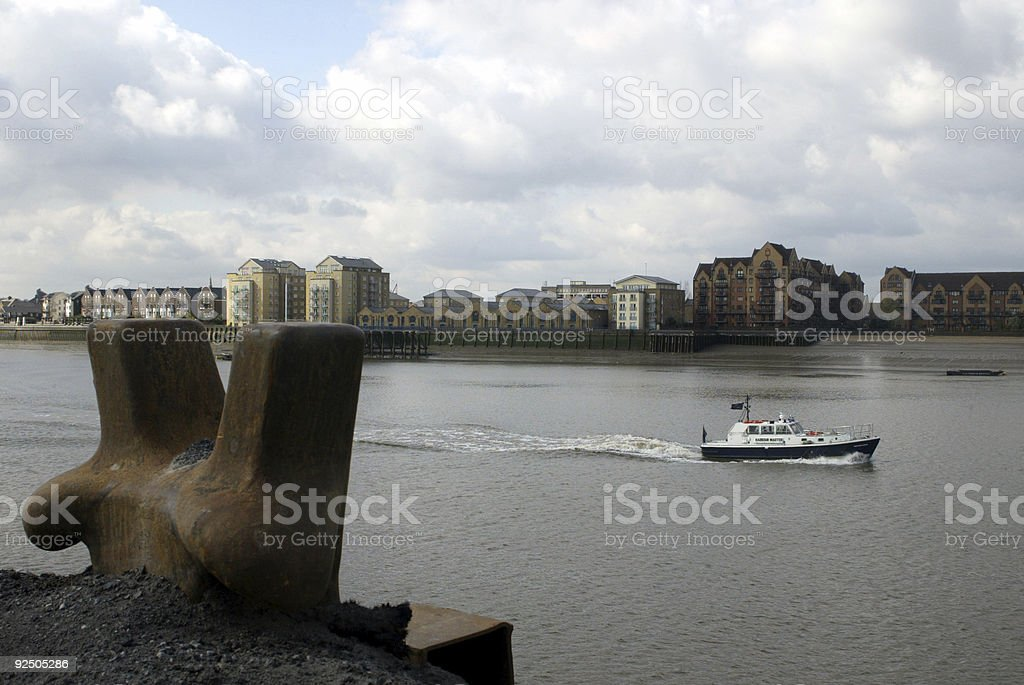 Harbour Master's Boat royalty-free stock photo