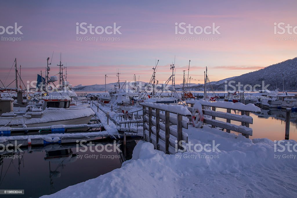 Harbour of Botnhamn stock photo
