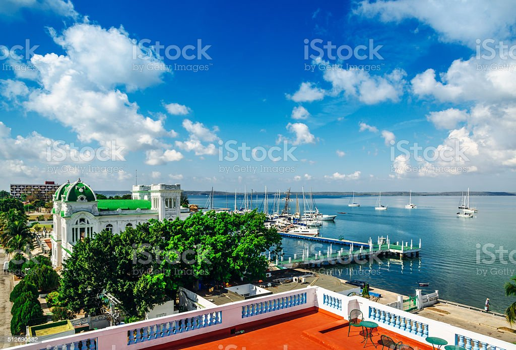 harbour of Cienfuegos, Cuba stock photo