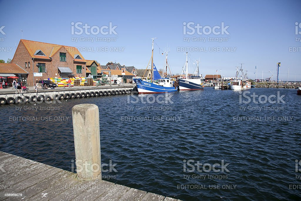 Harbour of Maasholm, Germany stock photo