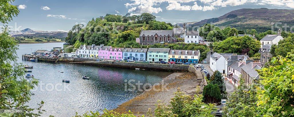 Harbour of Portree (Isle of Skye, Scotland) stock photo