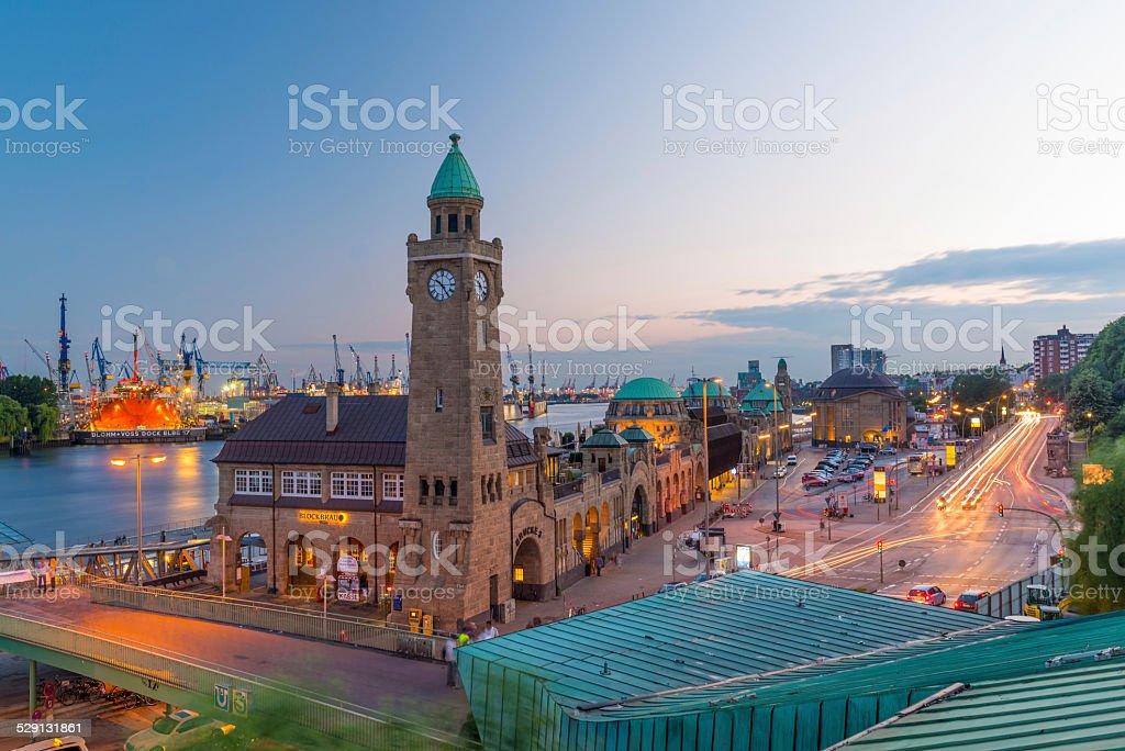Harbour of St. Pauli, Hamburg Germany stock photo