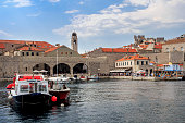 Harbour of the Old town of Dubrovnik, Croatia