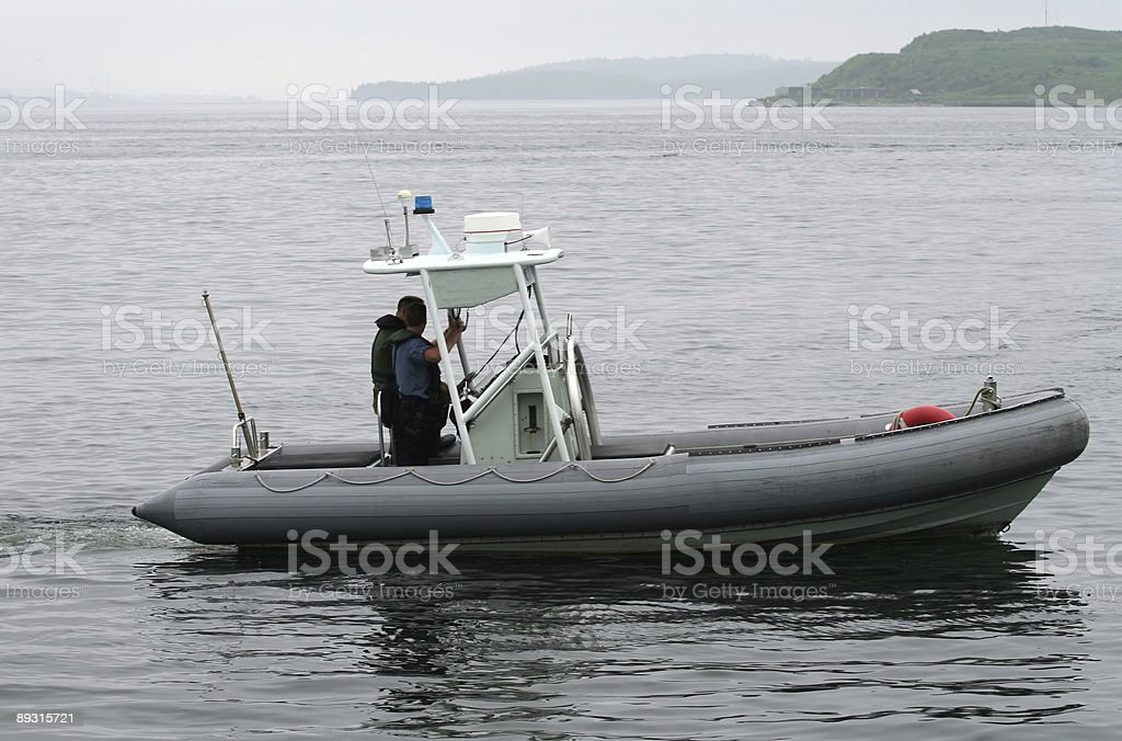 Harbour Patrol royalty-free stock photo