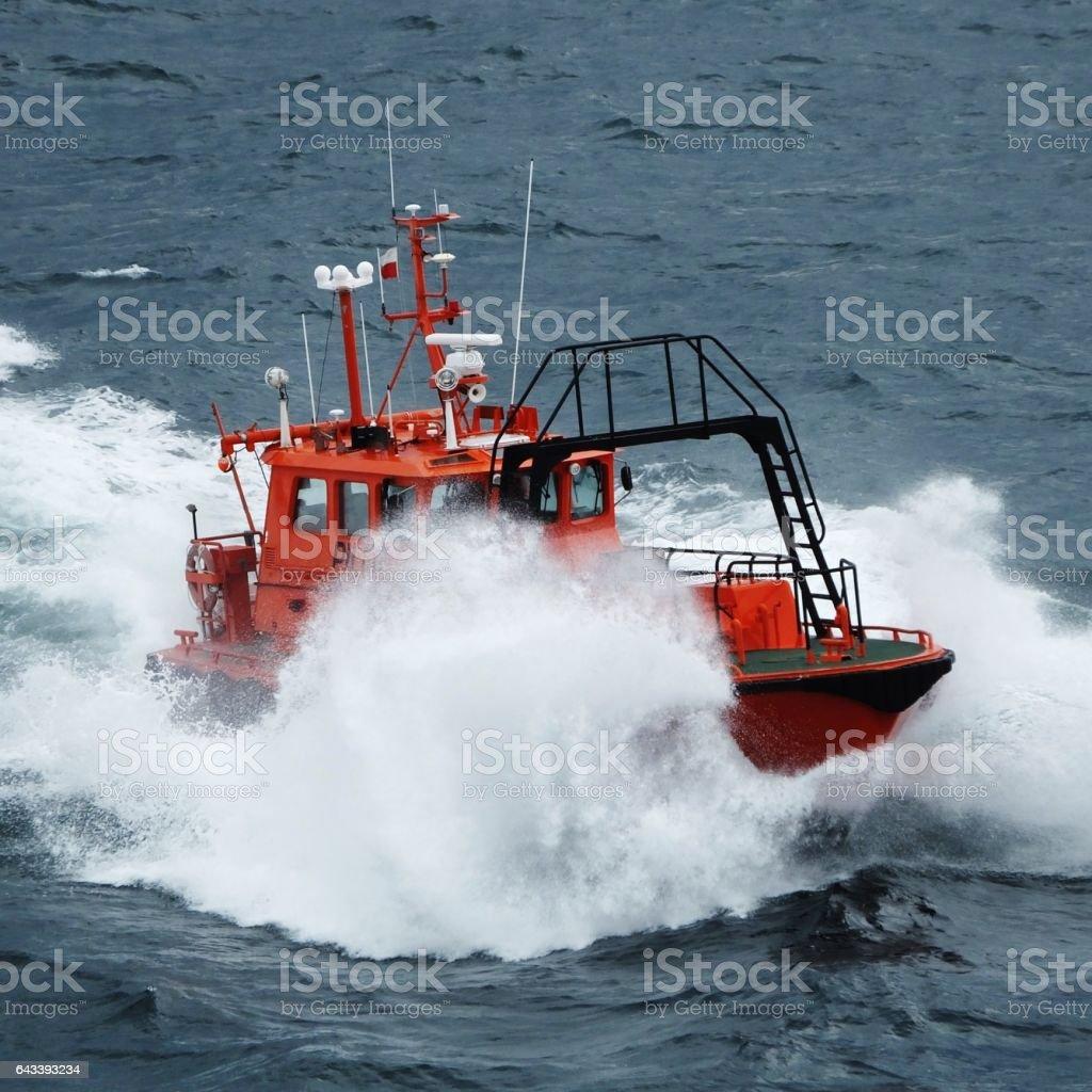 Harbour Pilot Boat 003 stock photo