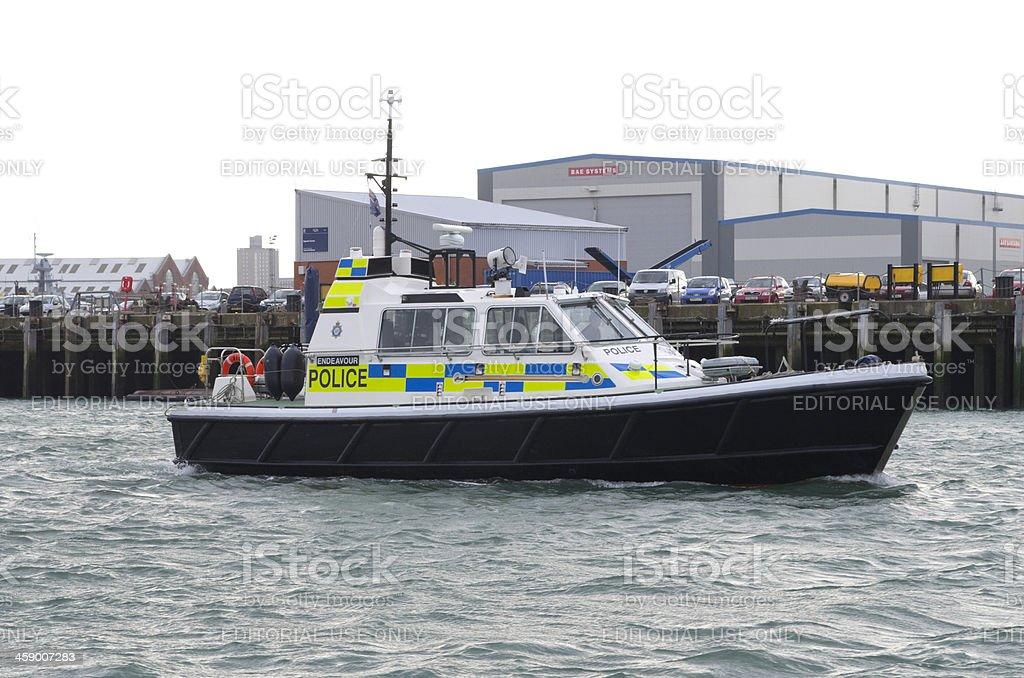 Harbour police patrol in Portsmouth stock photo