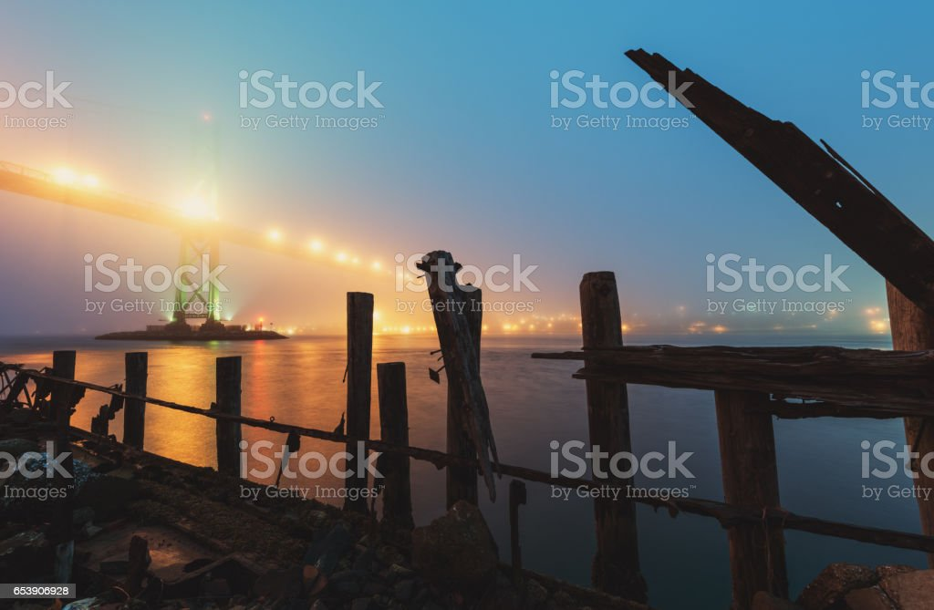 Harbour Shipwreck stock photo