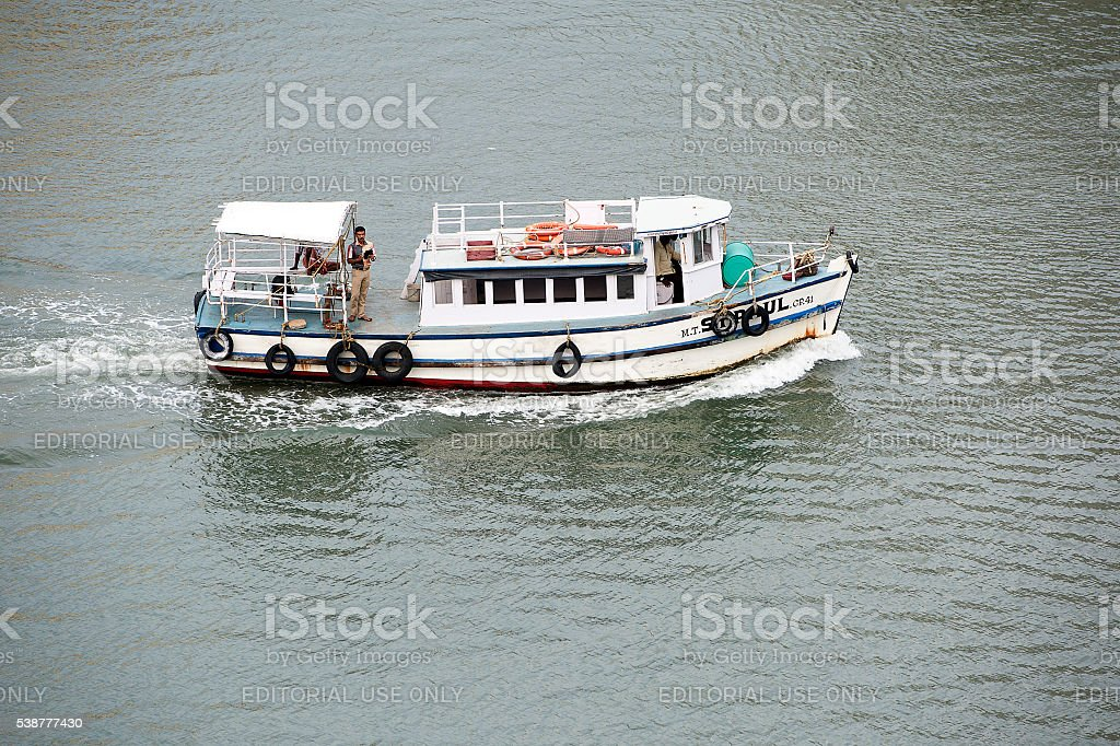 Harbour sightseeing boat - Cochin, India stock photo