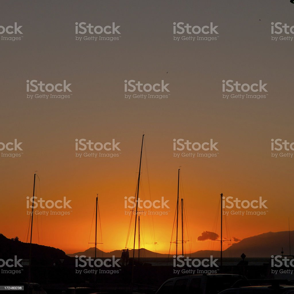 Harbour Sunset royalty-free stock photo