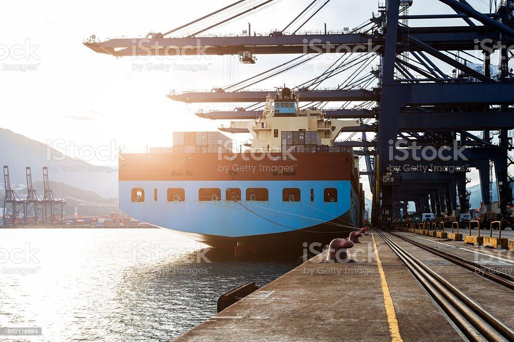 Harbour  Sunset stock photo