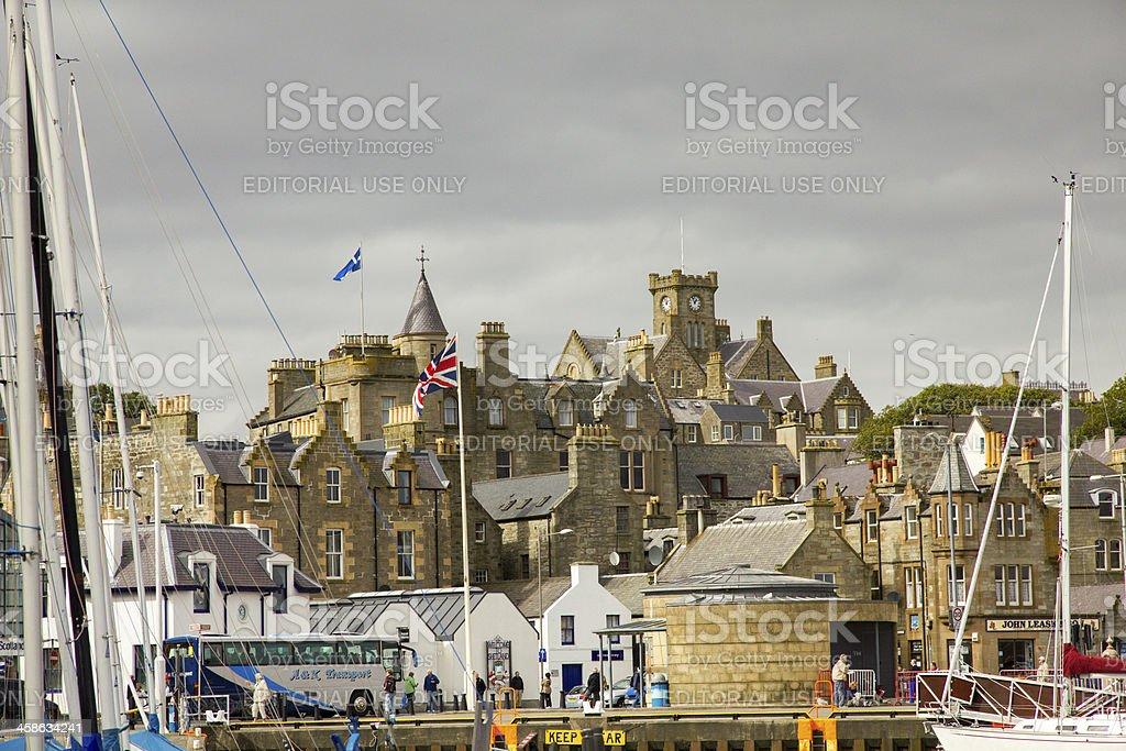 Harbour View of Lerwick, Shetland Islands stock photo