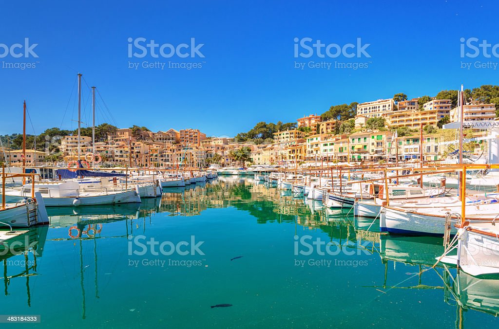 Harbour View of Puerto de Soller stock photo