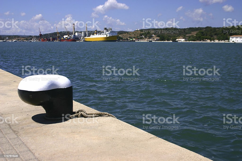 Harbour view stock photo