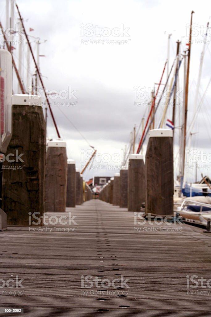 harbour walkway stock photo