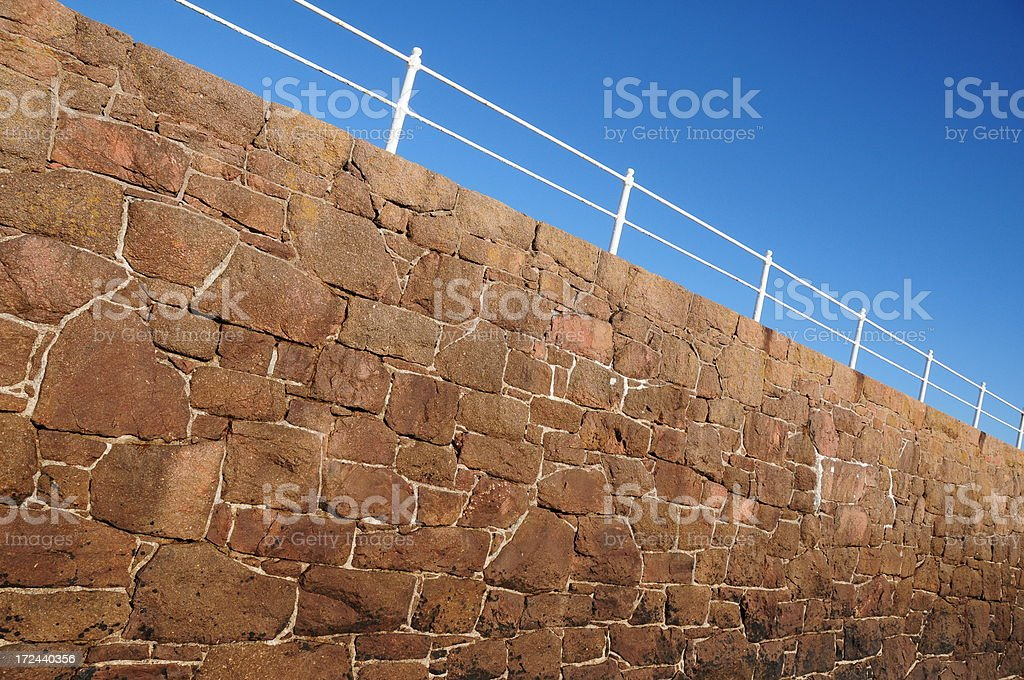 Harbour wall, Jersey. royalty-free stock photo