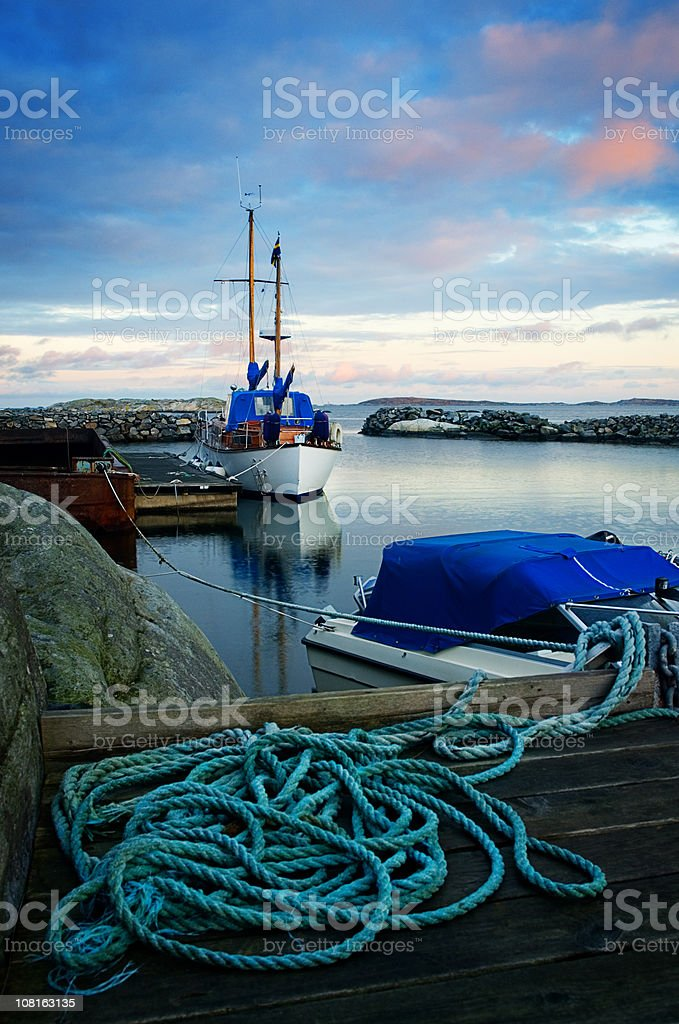 Harbour with Boats royalty-free stock photo